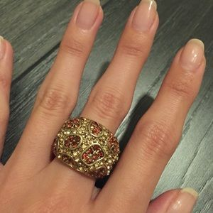 COPY - Brown and Champagne Cocktail Ring